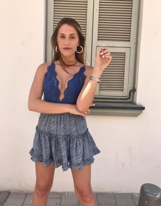 חצאית כחולה